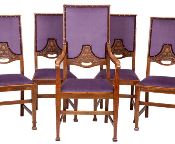 5x Arts & Crafts Dining Chairs