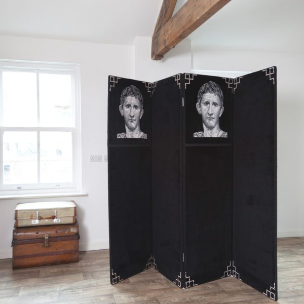 Magnificent Large Victorian Four Fold Dressing Screen