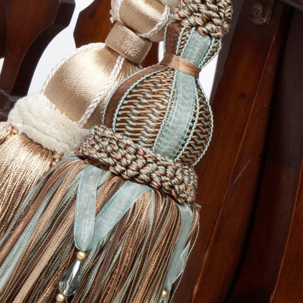 Ribbon Amp Pom Pom Detail Curtain Tie Back The Unique Seat