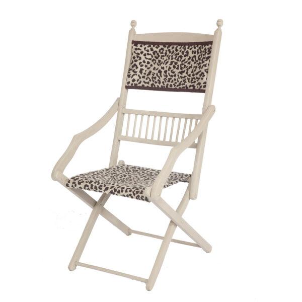 Edwardian Painted Folding Campaign Chair The Unique Seat