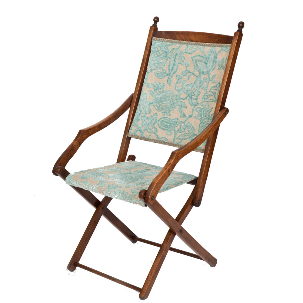Pretty Edwardian Folding Campaign Chair The Unique Seat