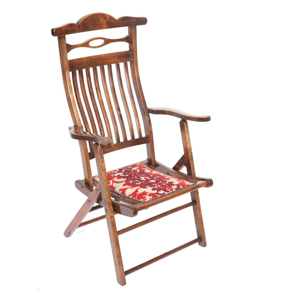 Stylish Edwardian Folding Campaign Chair