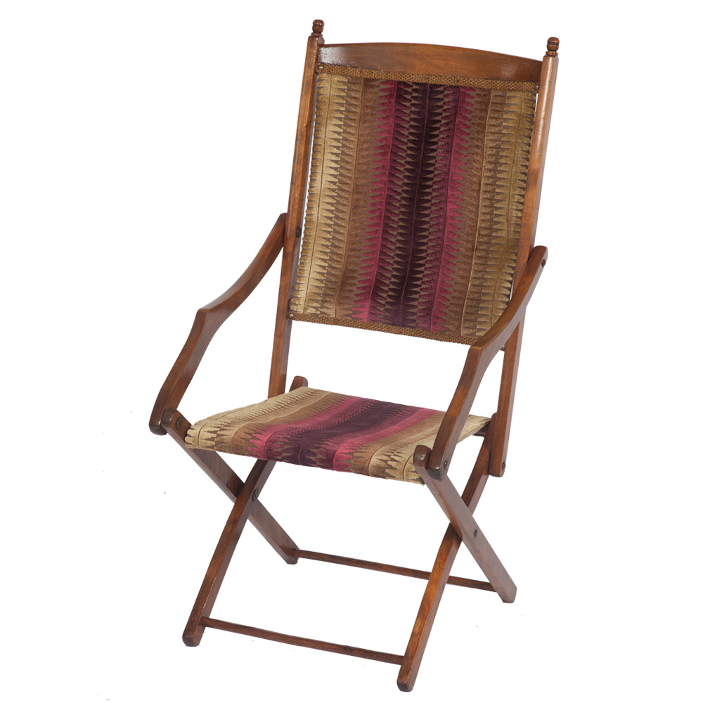 Stylish Edwardian Folding Campaign Chair The Unique Seat