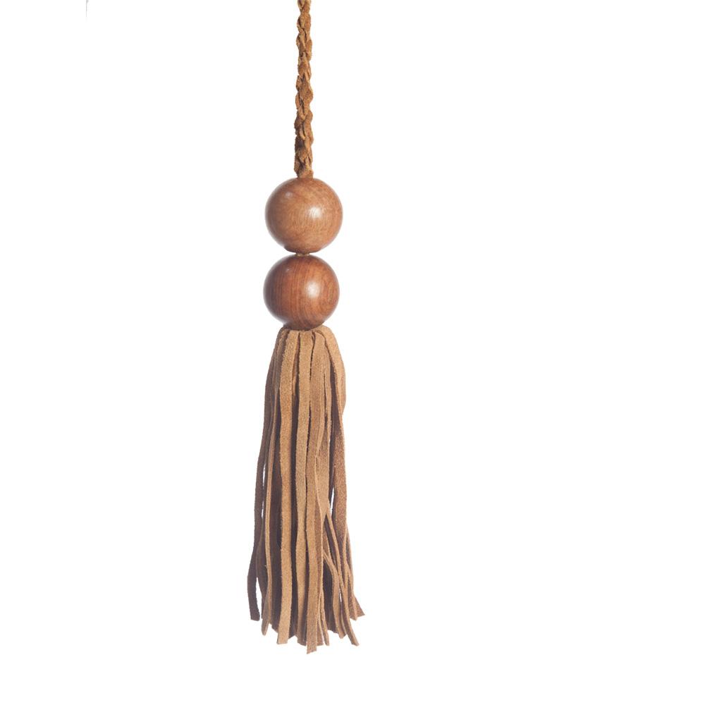 Wooden Bead Key Tassel