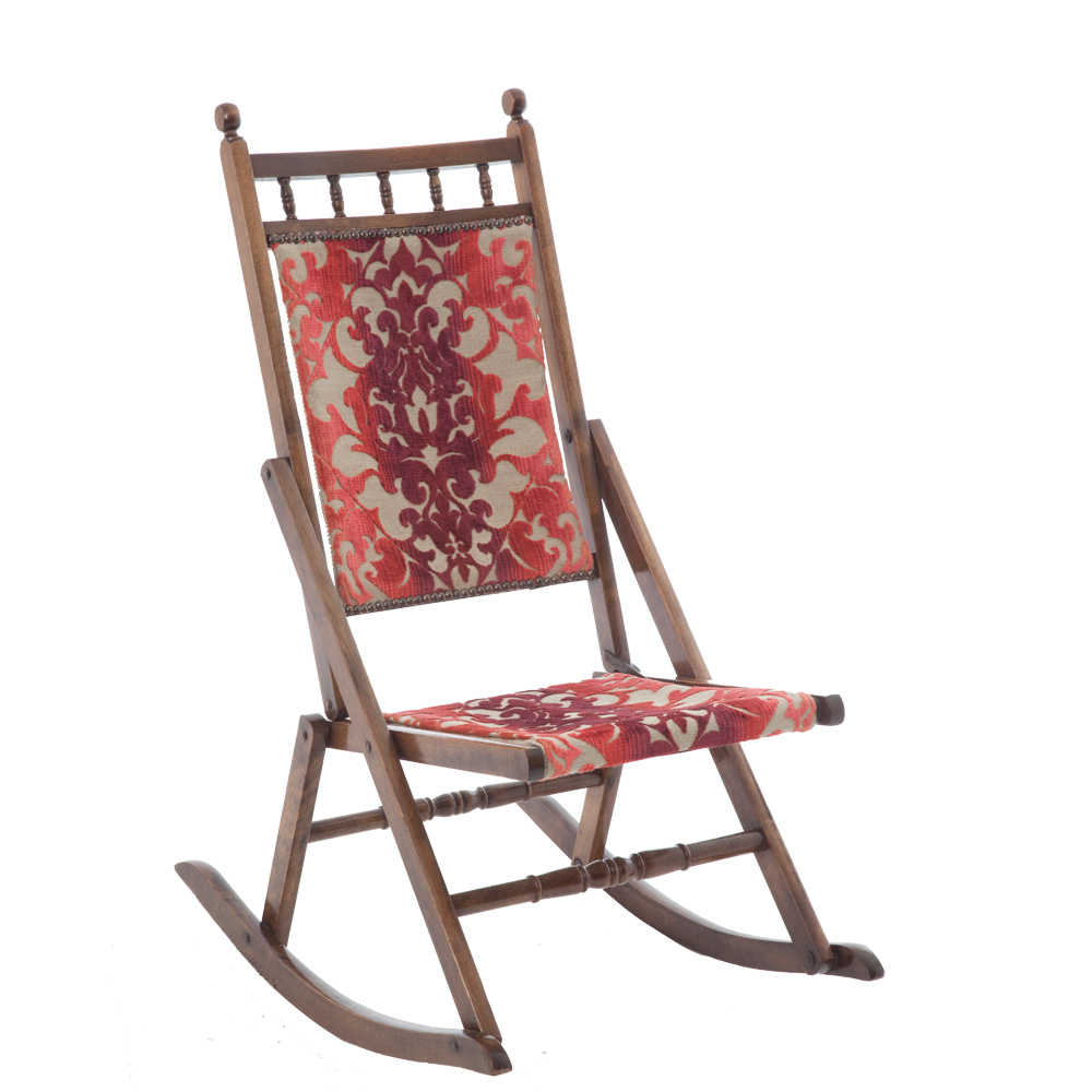 ... Fringes Upholstery Fillings Upholstery : folding rocking chair antique