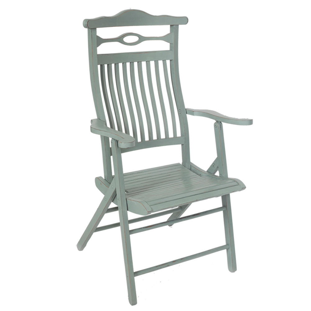 shabby chic painted edwardian folding campaign chair the