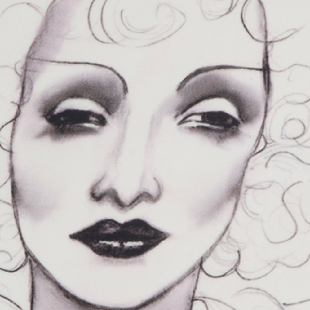 Marlene Dietrich Cushion In Collaboration With Sheffield
