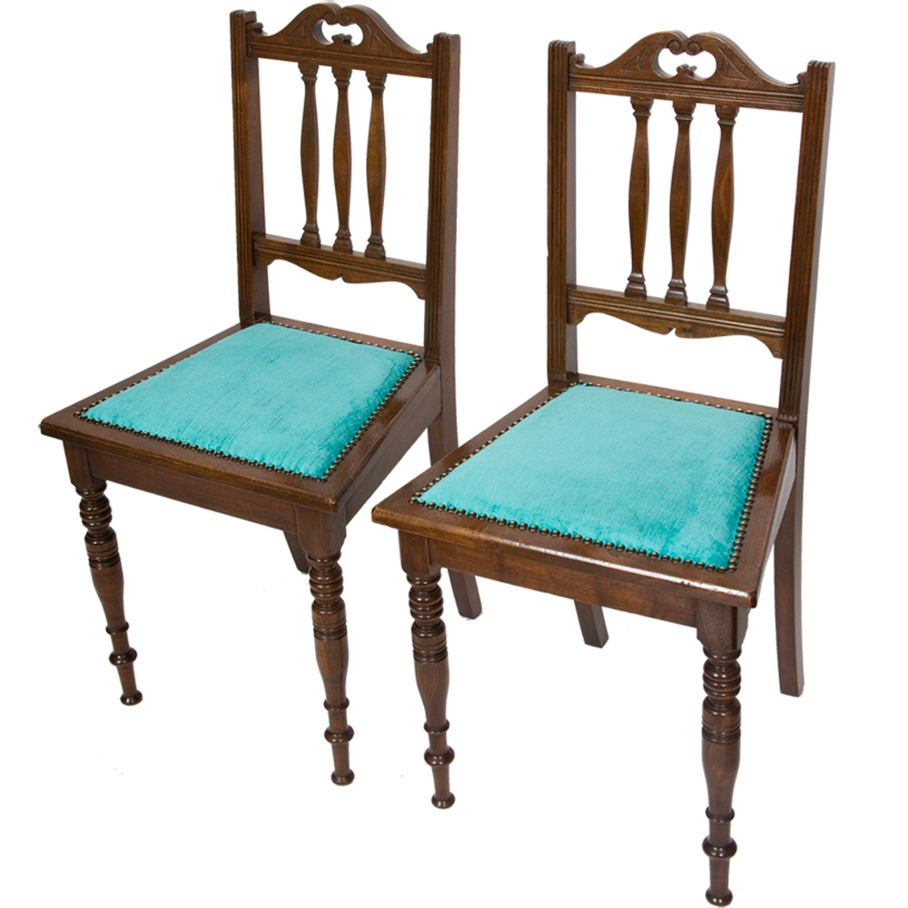 Pair Of Edwardian Chairs ...