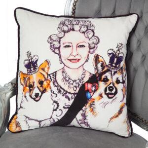 Queen & Corgis Cushion