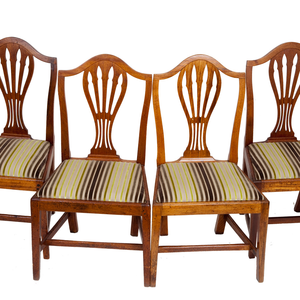 Set of 4 victorian dining chairs the unique seat company for Unique dining set furniture