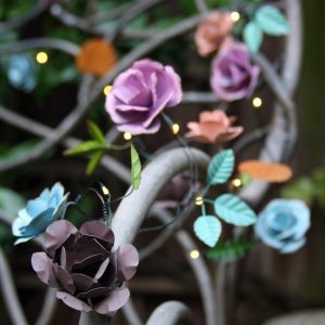 Rose Metal Fairy Light Chain