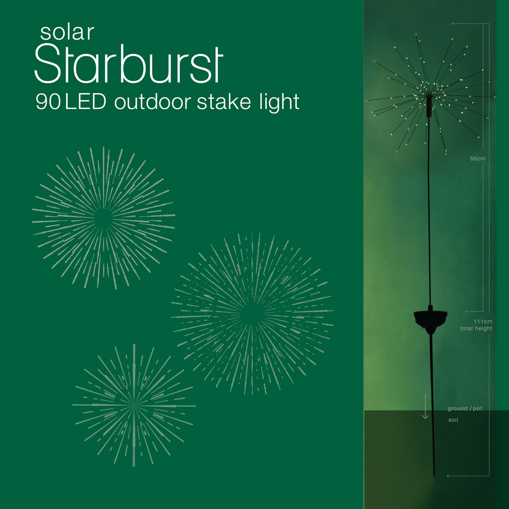 Solar Starburst Outdoor Stake Light The Unique Seat Company